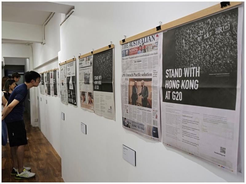 G20期間多國報章刊登反修例廣告。AP