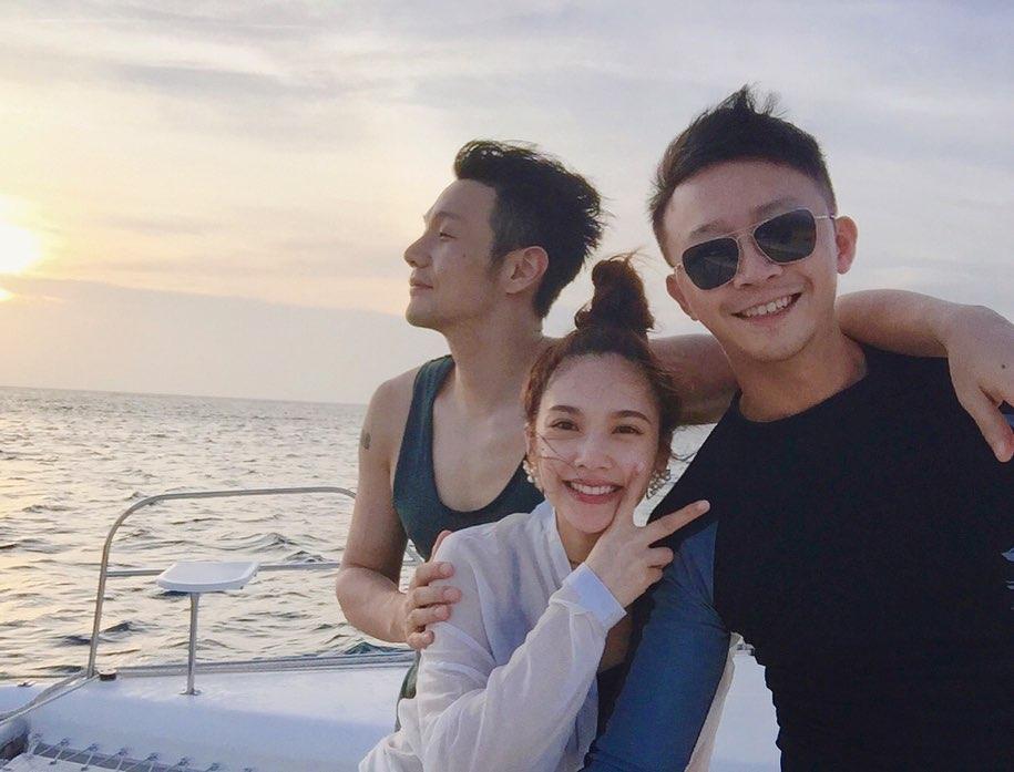 楊丞琳與李榮浩及好友金勤一同出海。(ig圖片)