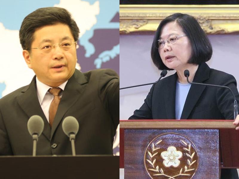 馬曉光批評蔡英文及民進黨當局為一黨、一己之私,企圖借外部勢力挑戰一個中國原則,嚴重破壞台海和平穩定,從中謀取政治利益。 網圖