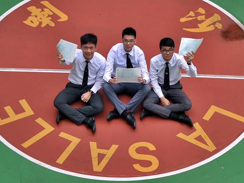 喇沙書院的許友灝、黃子峯、蕭子聰日前表明有意報讀中大醫科。資料圖片
