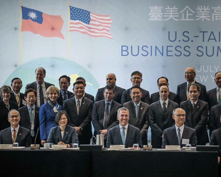 蔡英文出席台美企業高峰會。AP