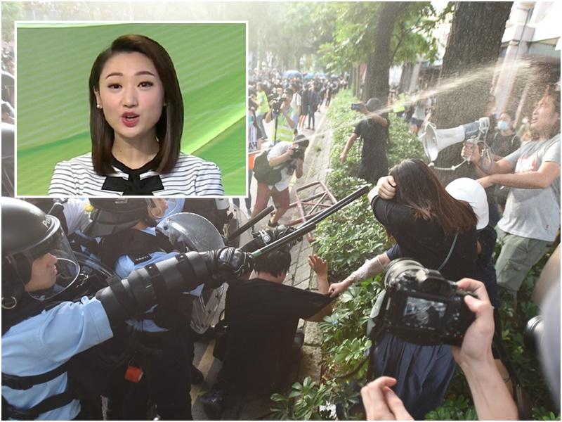 無綫女主播金盈的社交帳號被網民批評報道偏頗。