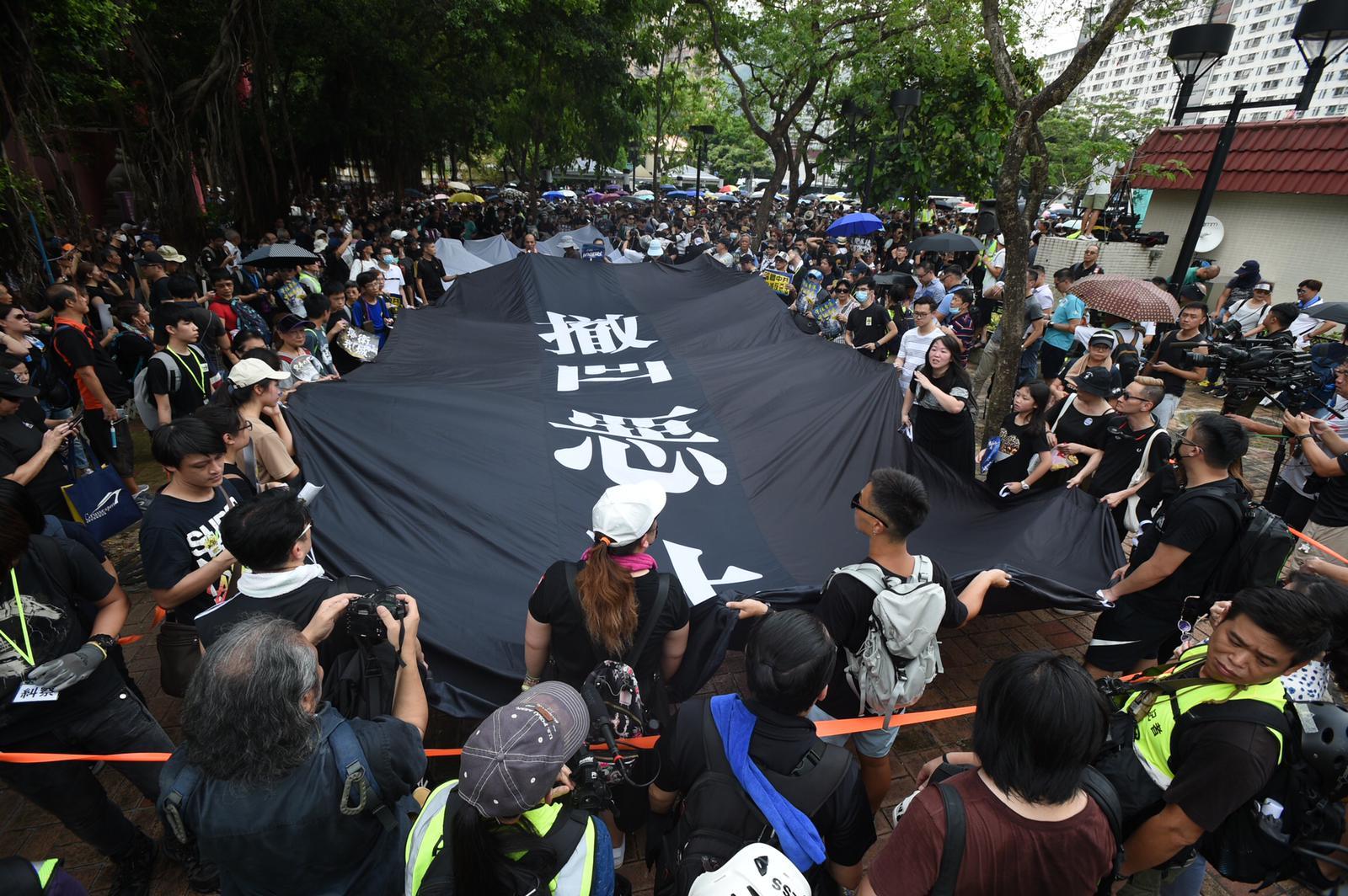 市民參與沙田區遊行