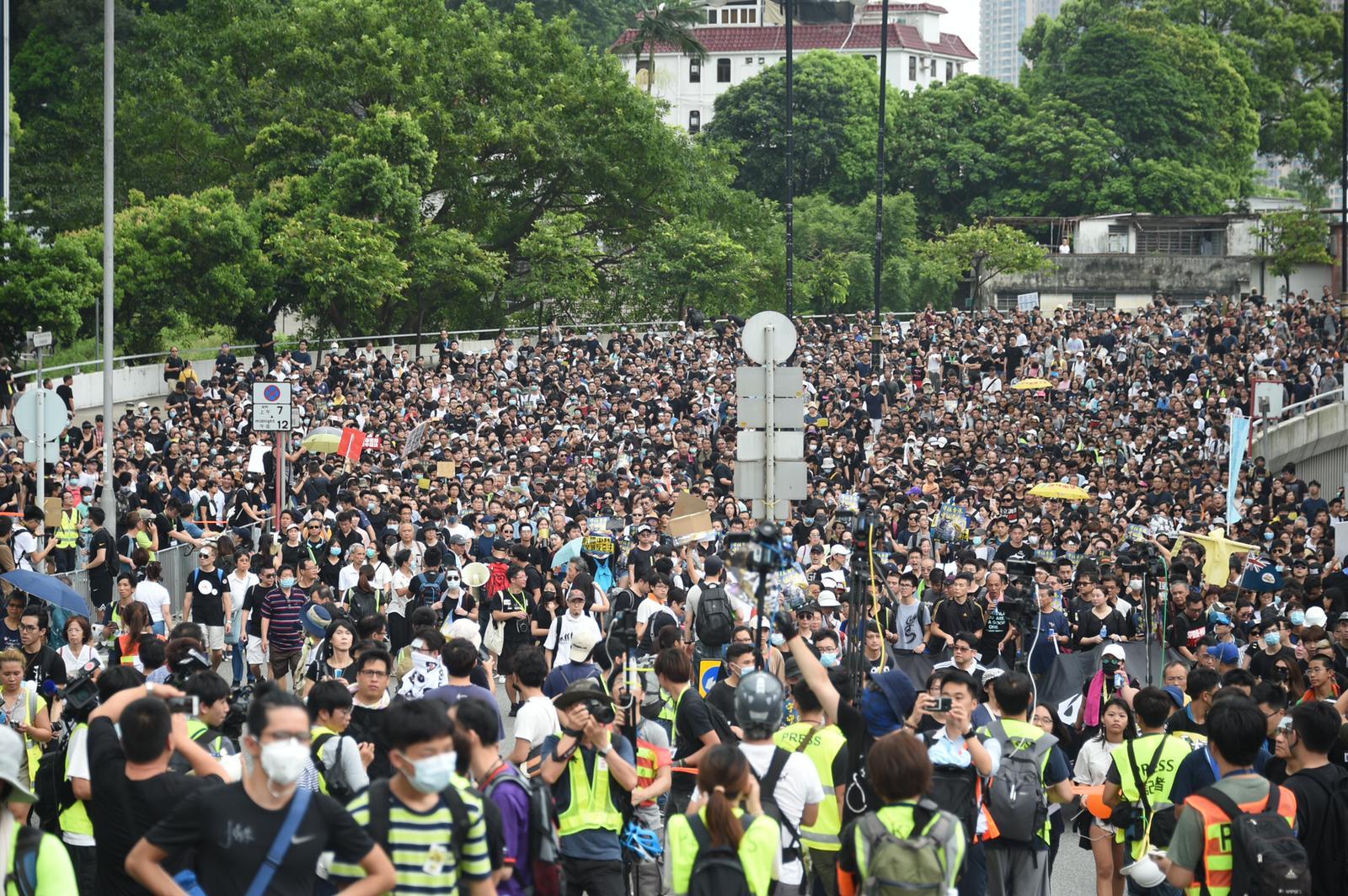 網民發起沙田反修訂《逃犯條例》遊行