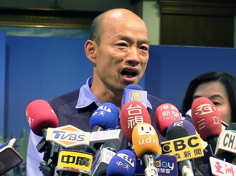 外界預期「被動參選」的高雄市長韓國瑜將會出綫。