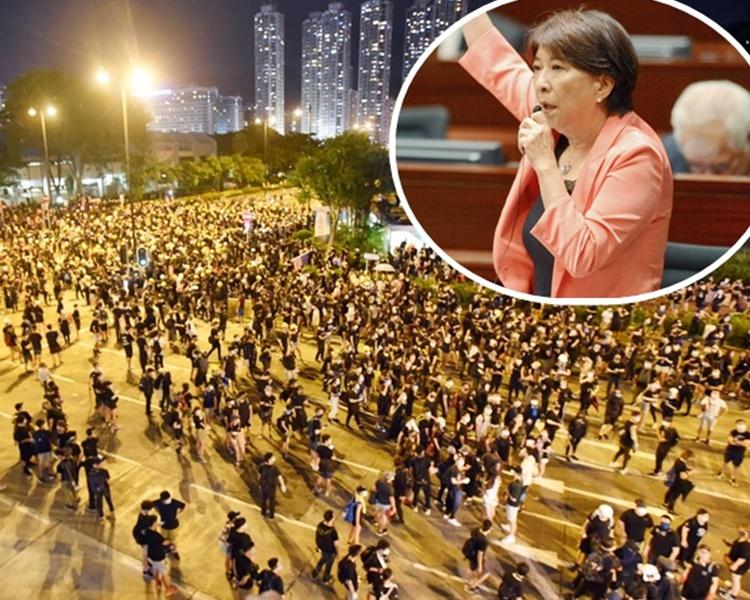 蔣麗芸(小圖)擔心遊行對區內居民及商戶造成影響。