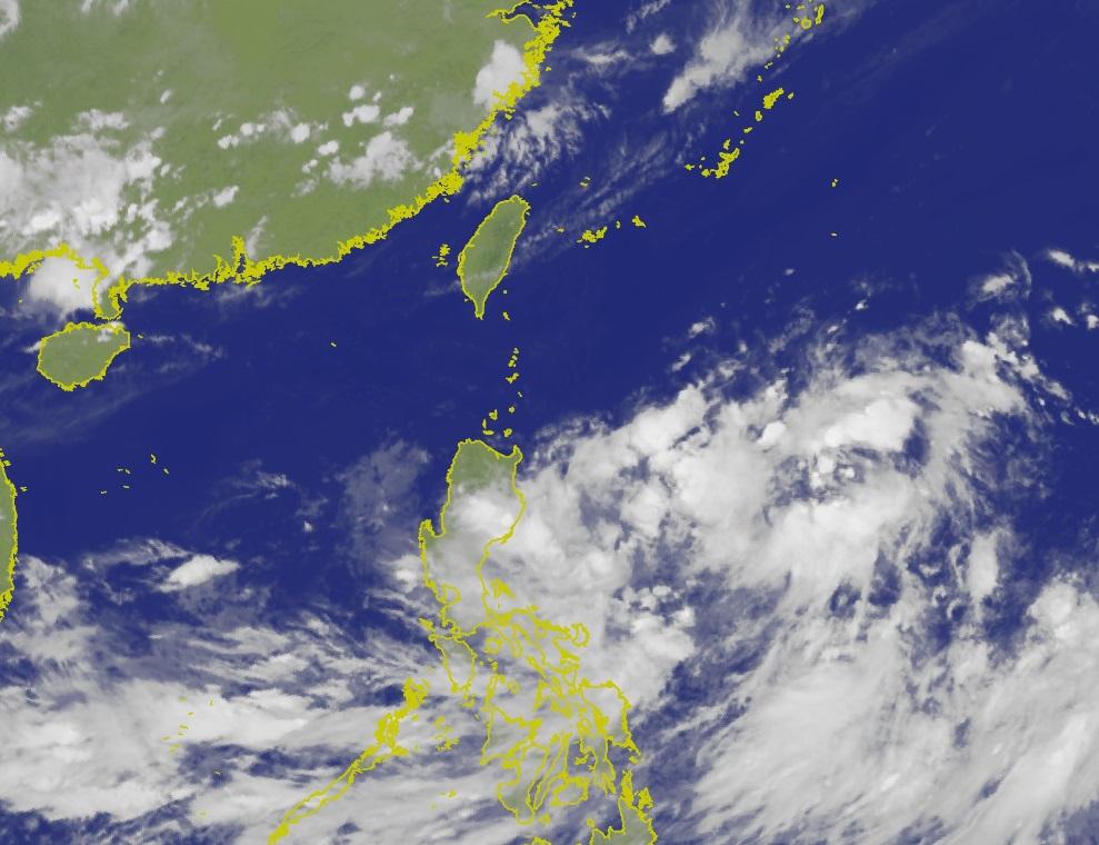 台灣氣象局指最快周二晚發海上颱風警報。台灣氣象局圖片