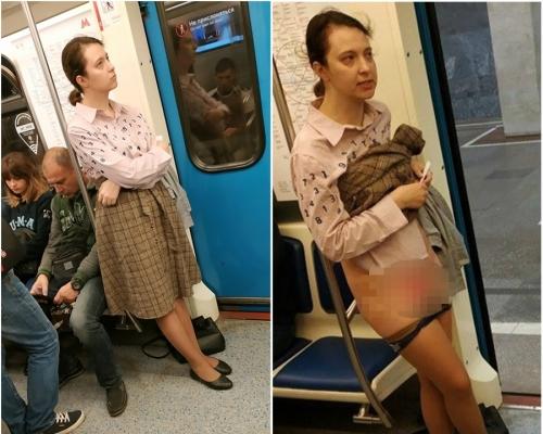 地鐵要男乘客讓座被拒 俄女脫內褲展下體「因我是女士」