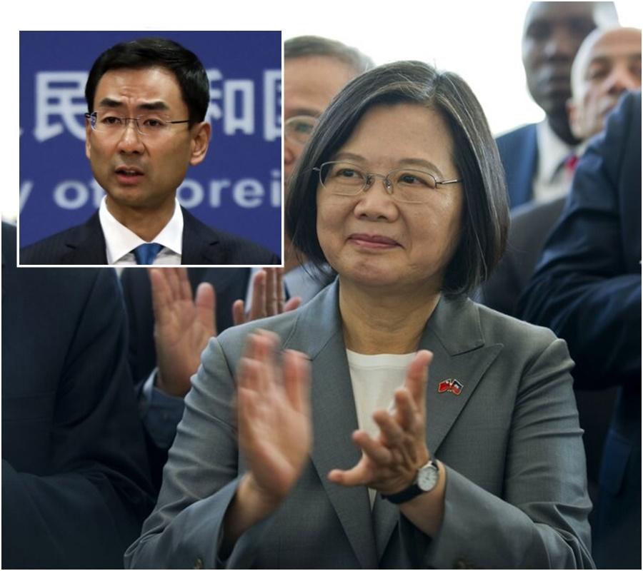 北京外交部斥蔡英文國際上就一國兩制大放厥辭。網上圖片/AP圖片