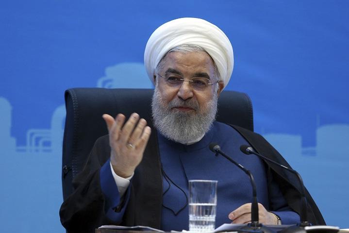 伊朗總統魯哈尼發表演說,伊朗便願意與美國恢復會談。AP