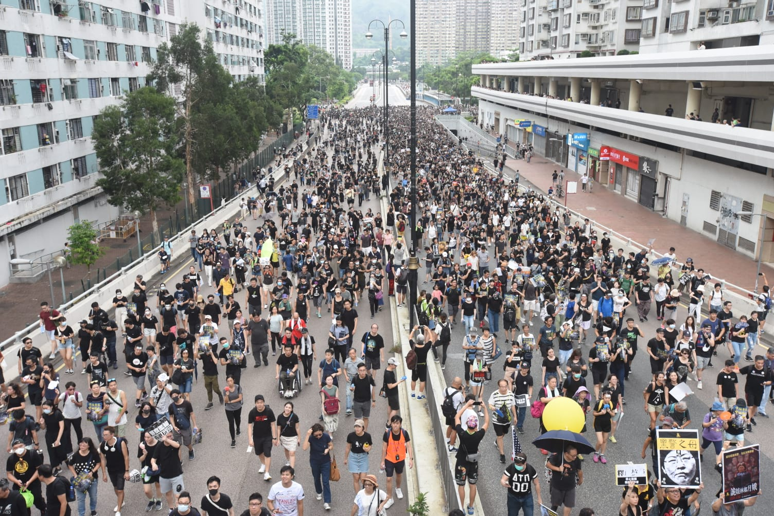 大專學界爭取國際維護香港自由。資料圖片