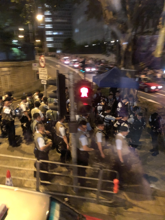 有在場人士指,發現有防暴警察到場。連登圖片