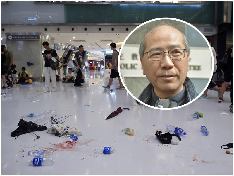夏志誠(小圖)指警方受過訓練應比市民更有分寸。資料圖片