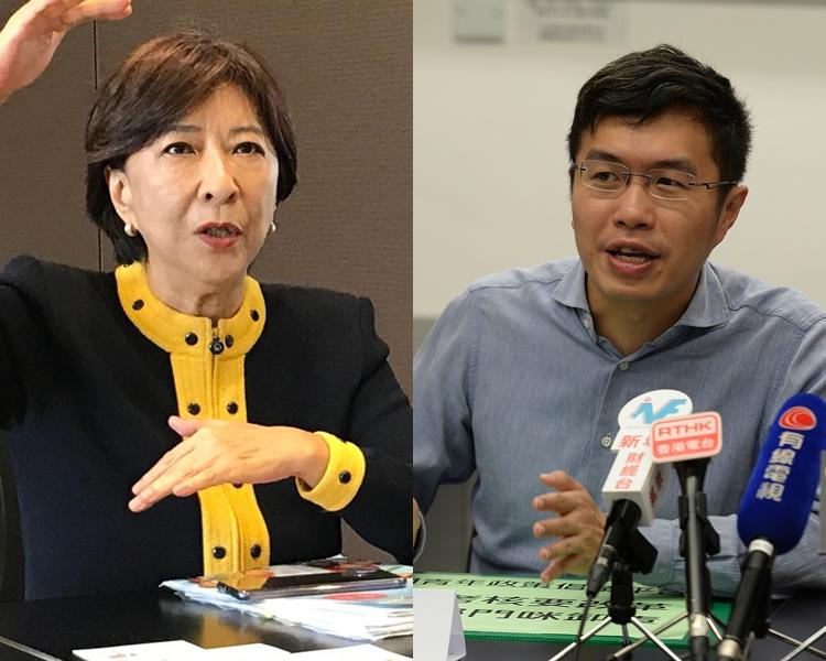 蔣麗芸(左);區諾軒(右)。 資料圖片