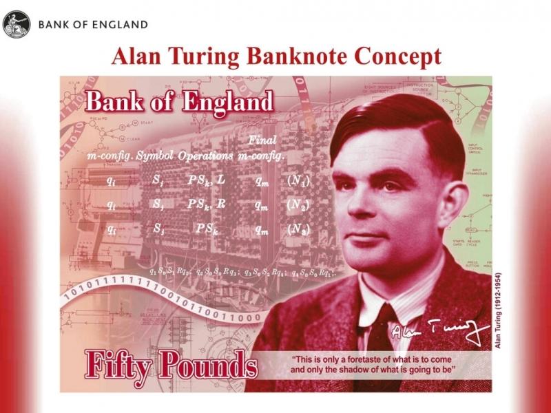圖靈獲選為英國新版50英鎊鈔票人物。AP