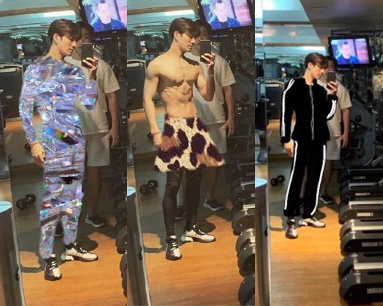 網民改圖幫Jackson穿好衣服。(微博圖片)