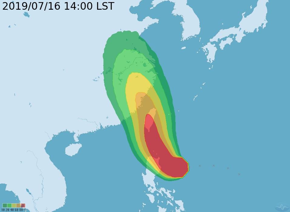 氣象局預測影響台灣最劇烈的時間將落在周四跟周五。氣象局