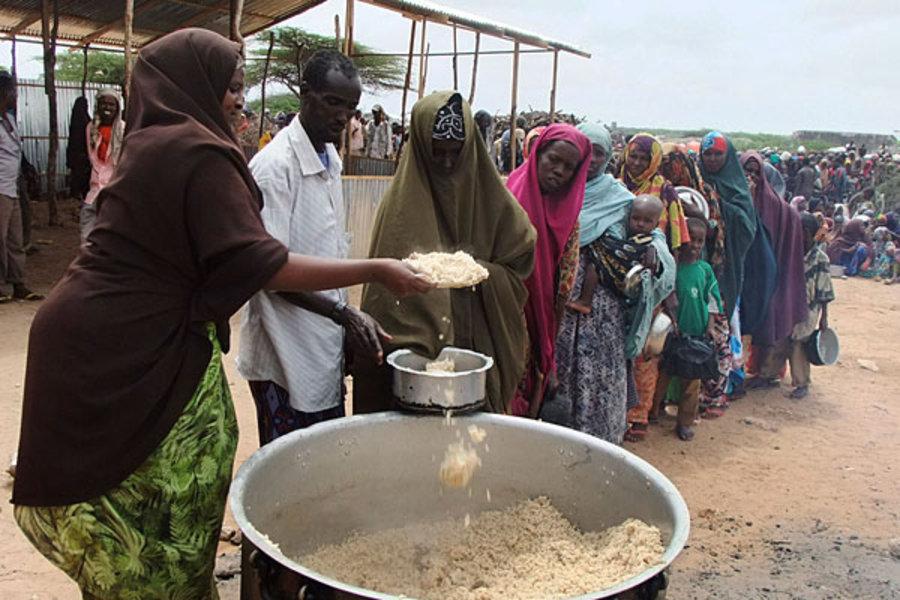 在非洲,營養不良的情況十分普遍。AP圖片