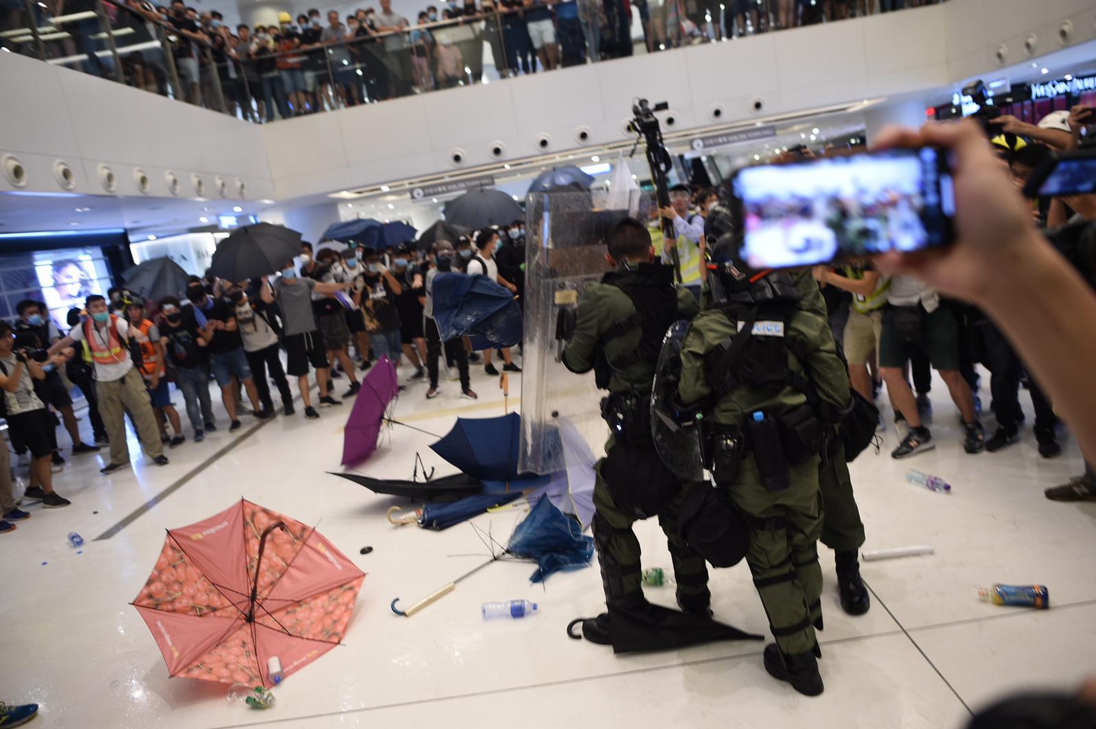 新城市廣場周日發生激烈流血衝突。資料圖片