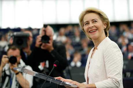 欧洲议会今天以383对327票,通过德国国防部长范德赖恩欧盟执委会主席的任命案。