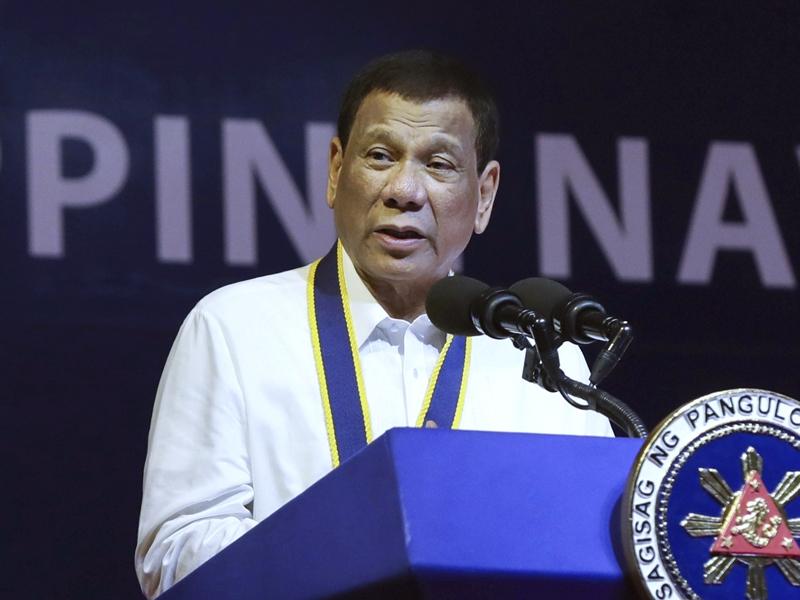 菲律賓總統杜特爾特。AP
