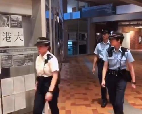 【逃犯條例】三警疑違規闖校園 港大:會作出正式投訴