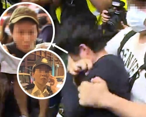【旺角衝突】網傳影相女商人為警員 警方澄清:女督察非案中受害人