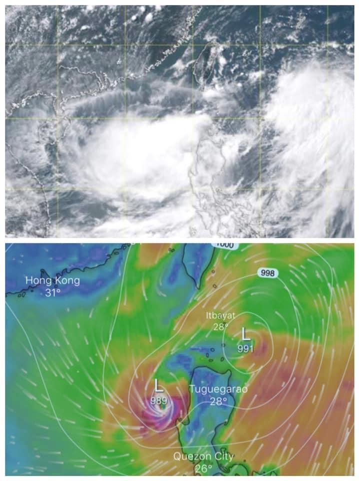 數值預報顯示呂宋以西出現副中心,可能形成為另一熱帶氣旋。香港地下天文台圖片