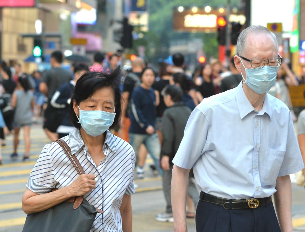本港空氣污染水平飆升。資料圖片