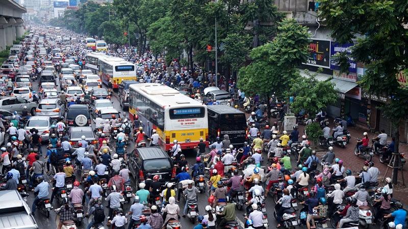 胡志明市一直存在交通擁擠問題。網上圖片