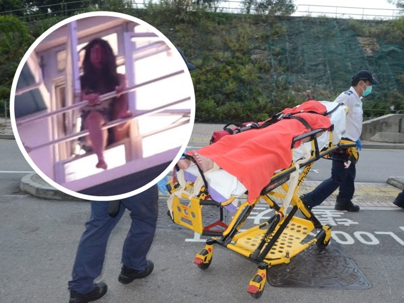 一名38歲女子疑感情問題於安泰邨企跳獲救。