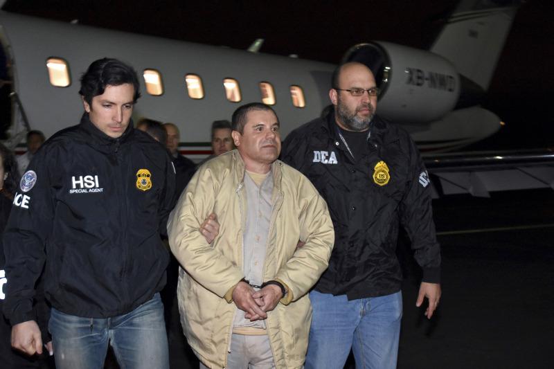 墨西哥大毒枭古斯曼2017年被引渡回美国受审。