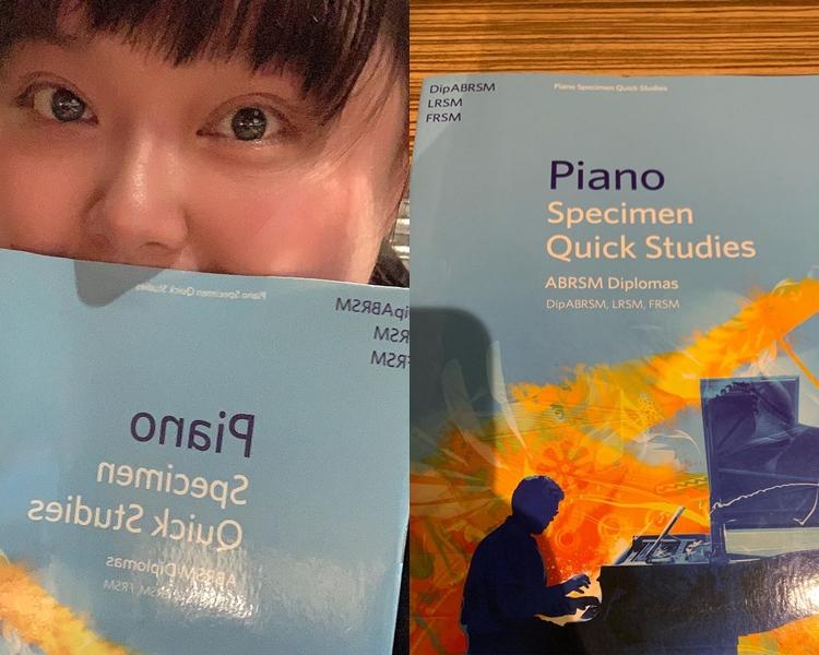 細細粒上載同琴書自拍的照片,透露想重拾鋼琴演奏級資格。 細細粒IG圖