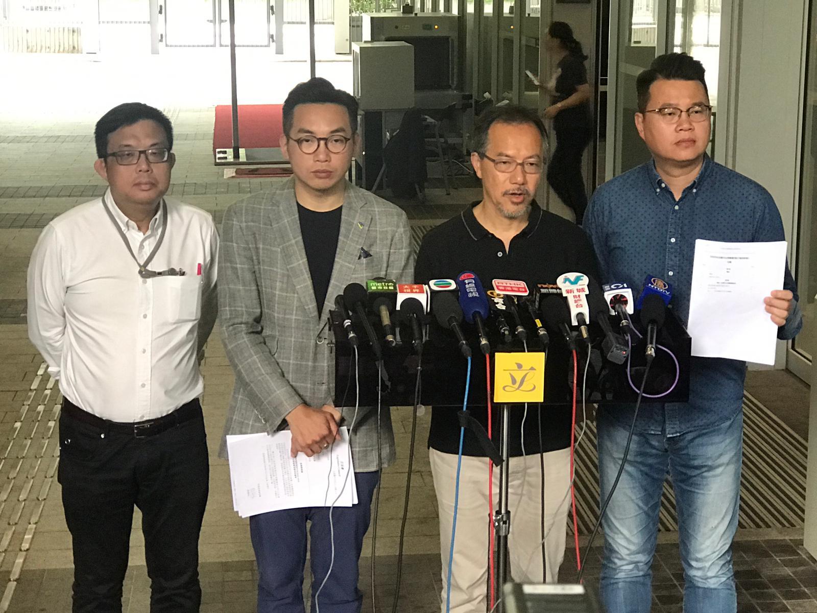 張超雄(右二)表示提出的修訂只為台灣殺人案作單次移交。