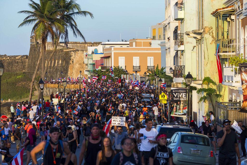 波多黎各示威者。AP圖片