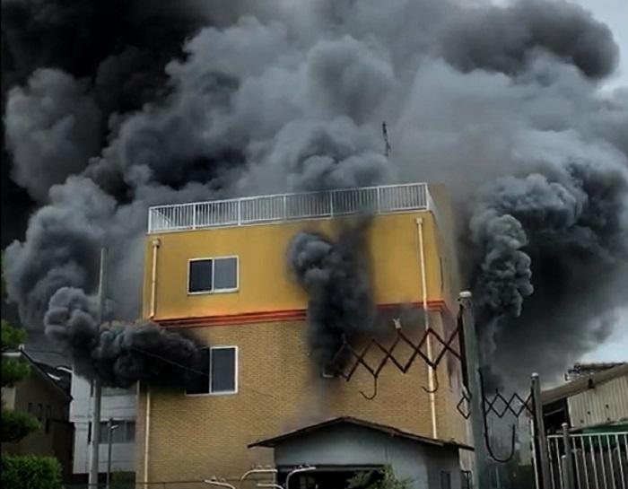 京都動畫公司縱火案增至25人死亡。網上圖片