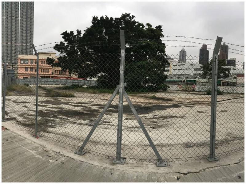 宋皇臺道及土瓜灣道交界的政府閒置土地。