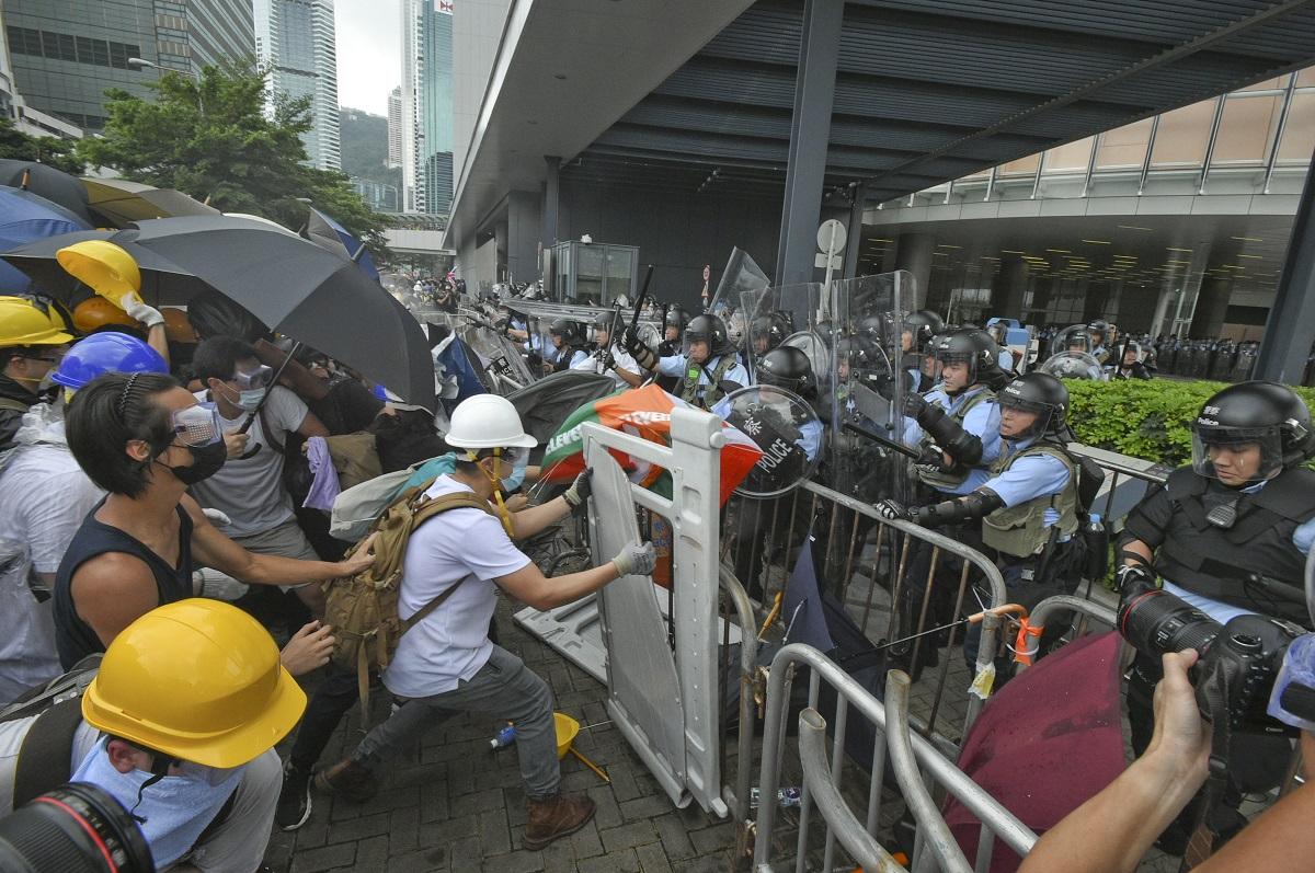 中方斥歐洲議會干涉香港事務。資料圖片