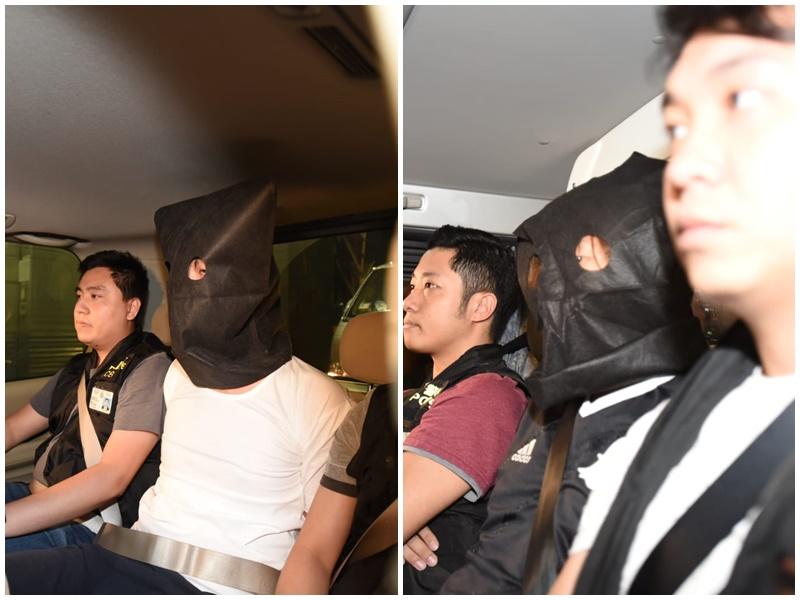 岑男(左)、黃男(右)。