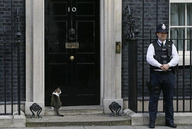 倫敦唐寧街10號首相府。AP圖片