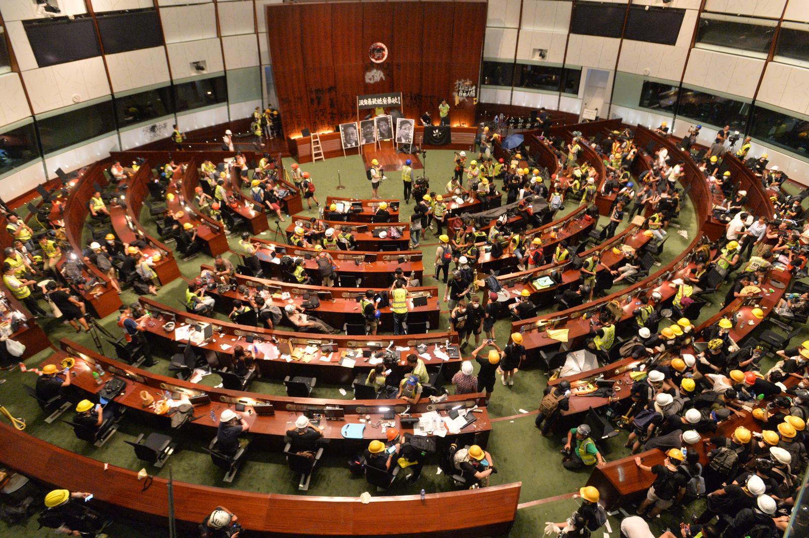 據報衝擊立法會示威者赴台灣尋庇護。資料圖片