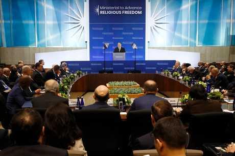 蓬佩奧指控北京向一些國家施壓,要他們不要參加由美國主辦的宗教自由會議。AP