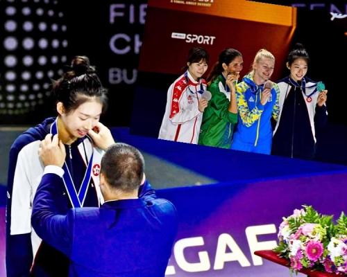 【零的突破】世錦賽重劍摘銅 港隊江旻憓創歷史