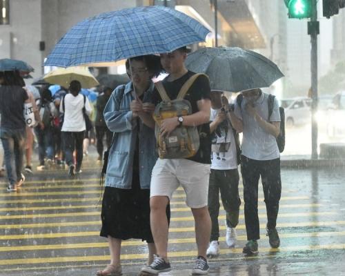 黃雨警告取消 天文台料短期內廣泛地區大雨