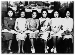 白虹、姚莉、周璇、李香蘭、白光、吳鶯音(資料圖片)