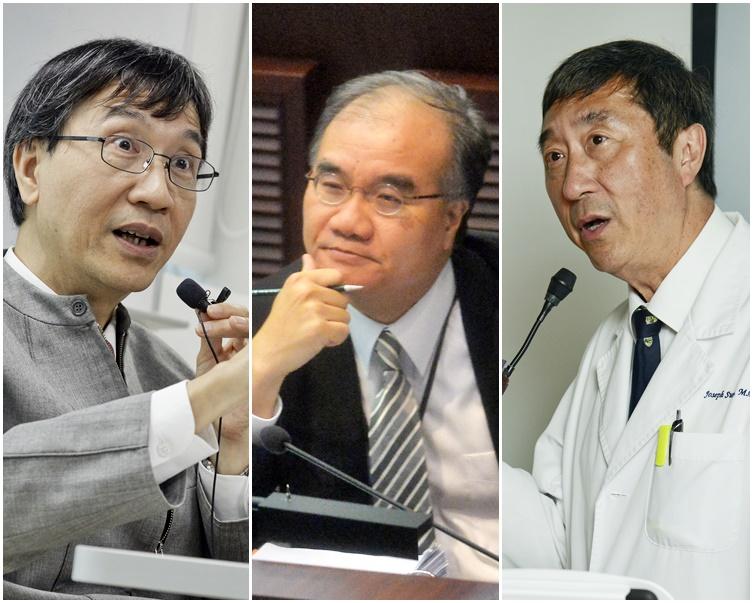 左起:袁國勇、邱誠武、沈祖堯。資料圖片