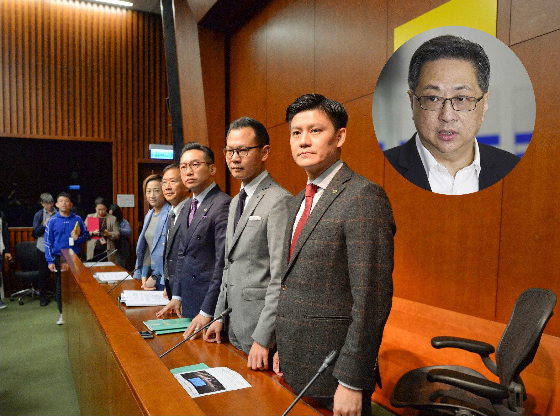 公民黨立法會議員去信盧偉聰(小圖)。資料圖片
