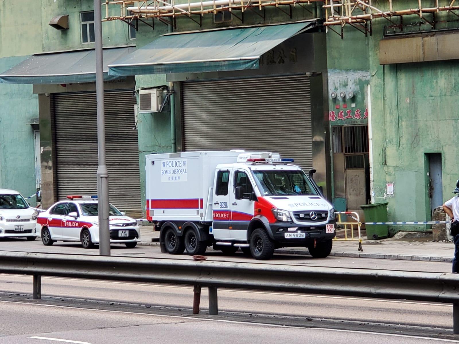 爆炸品處理課人員到場調查。