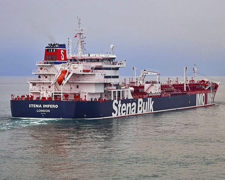 一艘英國註冊運油輪被伊朗扣押。AP