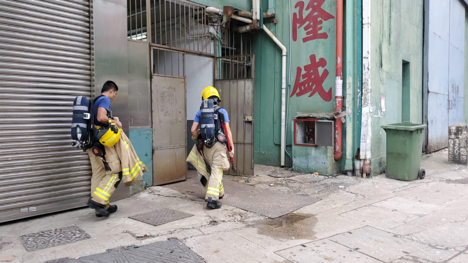 消防到場戒備。